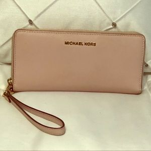 Michael Kors wristlet wallet.